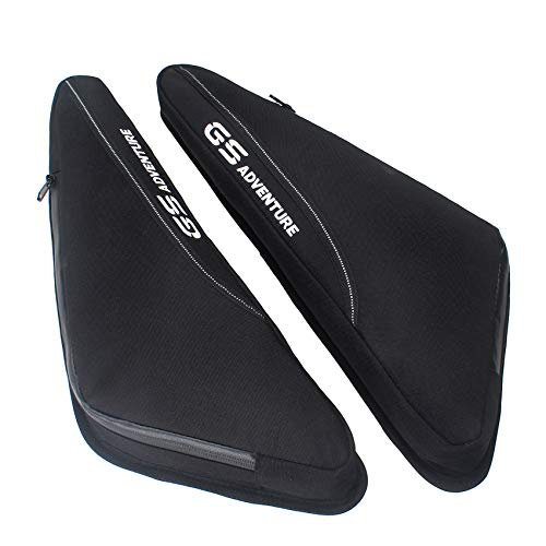 GIDIBII Motorbike Frame Bag Waterproof Zipper Luggage Side Tool Bags For BMW R1200GS /ADV R1250GS F750GS F850GS (Black)