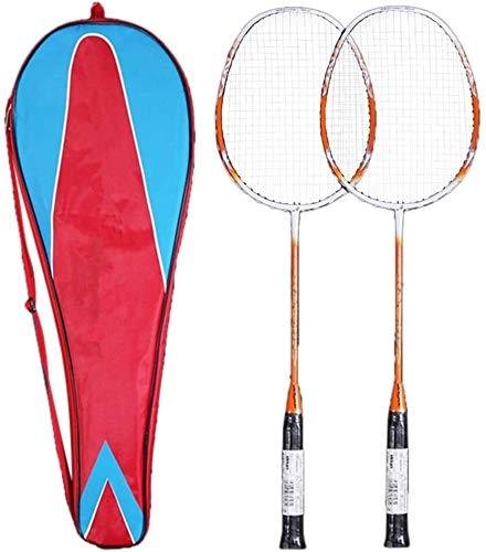 Dsnmm Badmintonschläger Set Carbon-Schläger Ultra Light Profi-Schläger Badminton