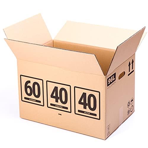 TeleCajas   (10x) Cajas de Cartón 60x40x40 cms   Una Onda - QR1782S   Lote de 10 unidades