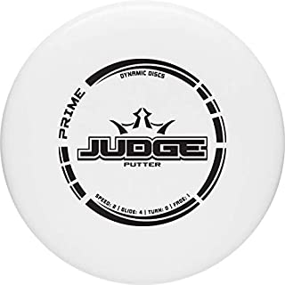 Dynamic Discs Prime Judge Disc Golf Putter | 170g Plus | Throwing Disc Golf Putter | Great Off of The Tee Box | Stable Disc Golf Flight | Beaded Disc Golf Putter | Stamp Color Will Vary