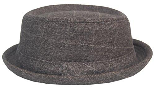Cool4 Cool4 PORK PIE HUT Anthrazit Vintage Retro Classic Hüte Porkpie Rocky Hackman PP05 (59)