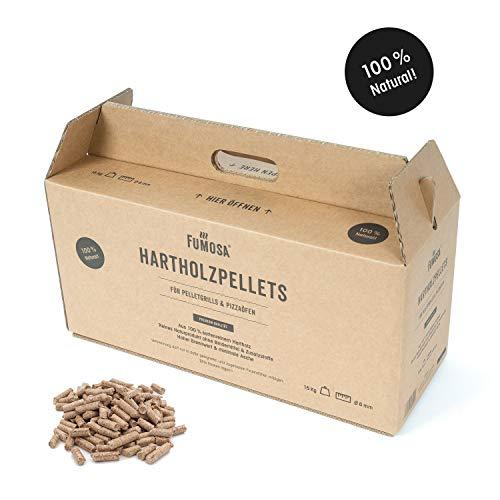 FUMOSA Grillpellets aus reinem Hartholz, 15 kg, 100% natürliche Holz Pellets für Pizzaofen & Grill