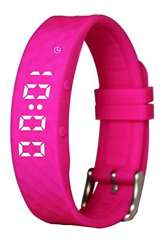 Pivotell Vibratime Vibrationsuhr, mit bis zu 8 täglichen Alarmen, Pink