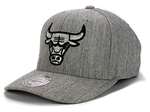 Mitchell & Ness NBA Curved Visor 110 Snapback - Chicago Bulls, grey heather