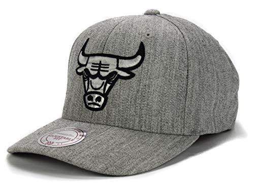 Mitchell & Ness, berretto da uomo con visiera 110, con logo dei Chicago Bulls Grau Taglia unica