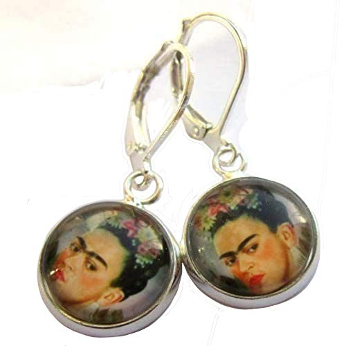 Face Earrings Glass And Silver Plate Nickel And Lead Free
