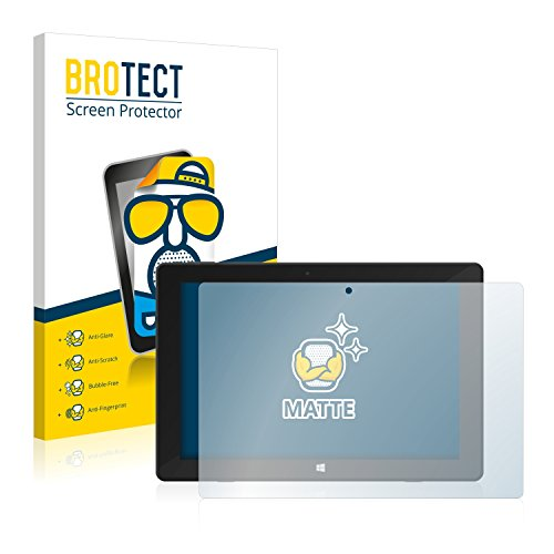 BROTECT 2X Entspiegelungs-Schutzfolie kompatibel mit TrekStor Surftab Twin 10.1 2015 Bildschirmschutz-Folie Matt, Anti-Reflex, Anti-Fingerprint