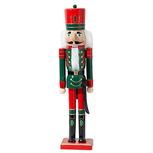 XKMY Juguetes de marionetas de madera de 50 cm de Navidad de madera cascanueces soldado joyería decoración de habitación infantil ornamento artesanal cascanueces marioneta (color: D, tamaño: 30 cm)