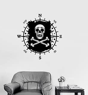 Vinyl Decal Pirate Map Nautical Navvsation Kids Room Wall Stickers (vs3224)
