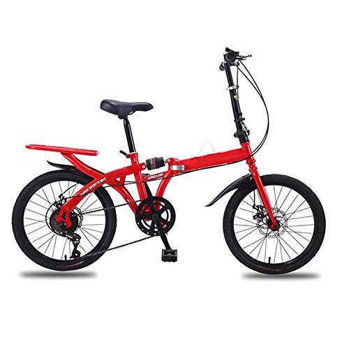 GAOword Bicicletta A velocità Variabile 16/20 Pollici Pieghevole Gratis Installazione Ammortizzatore Adulto Studente Uomini E Donne Tipo Bicicletta da Viaggio Leggera,16 Inches