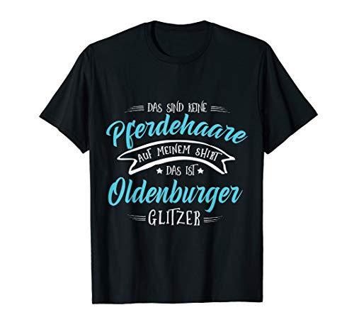 Oldenburger Glitzer Pferd Pferde Mädchen Geschenk T-Shirt