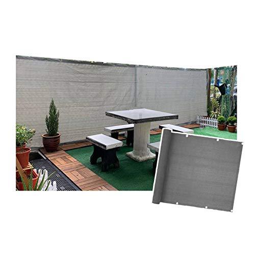 LIANGJUN Pantalla Balcón Privacidad, 85% Resistente A Los Rayos UV Red De Sombrilla, Hogar Balcón Valla La Seguridad Neto, Jardín Planta Cubrir Sombreado Tela, Gris (Color : A, Size : 200x800cm)