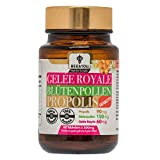 Royal Jelly Bee Pollen Propolis Chewable Tablets - 500 mg x 60 Tablets (Natural-Controlled Ingredients, Fair Trade, No Additives)