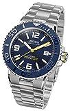 EPOS 3441 Orologio sportivo e subacqueo da uomo automatico, cinturino in metallo