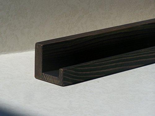 """Ultra Narrow 12"""", 14"""", 16"""" or 18 Inch Floating ledge Shelf, Picture ledge Shelf, You Choose Your length, Ebony Finish"""