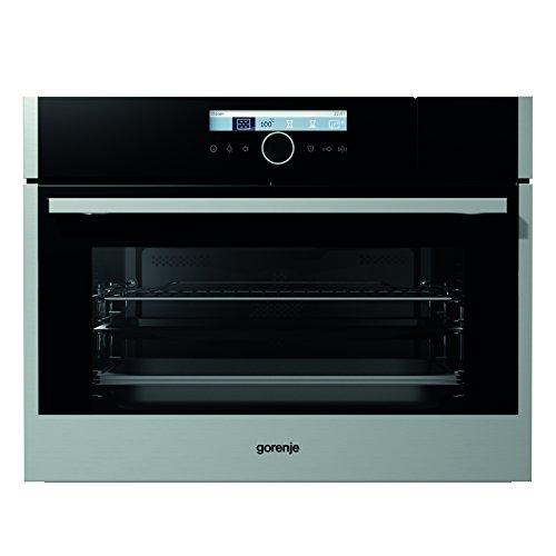 Gorenje BCS 589 S20X Kompakt-Kombi-Dampfgarer/ Backmuffe Homemade 51 L / Edelstahl / StepBaking / inkl. Dampfgar-Set / Anti-Fingerprint
