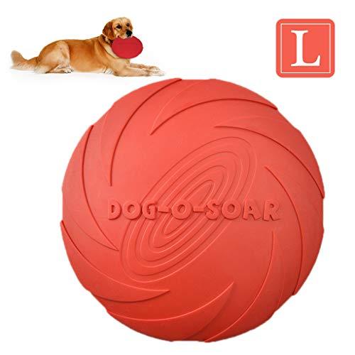 Andiker Hundespielzeug, Fliegenscheibe, Hunde-Frisbee-Spielzeug, Haustier-Untertasse, langlebiges Gummi-Training, Kauspielzeug für den Außenbereich, interaktiver Spaß