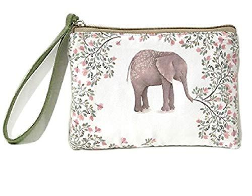 WOO LANDO Tasche mit Motiv & Trageschlaufe für Mädchen und Damen, feines Innenfutter, 16,5x11cm (EELEPHANT)