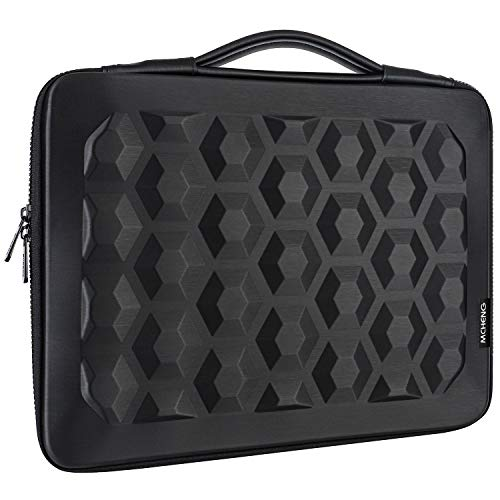 MCHENG10-10.1 Inch Shockproof Laptop Sleeve Bag Cover Soft EVA Tablet Case Waterproof Carrying Briefcase with Handle for 9.7 10.5 11 Inch iPad Pro, Surface Go 2018, iPad Air 2/3, iPad 1/2/3/4, Black
