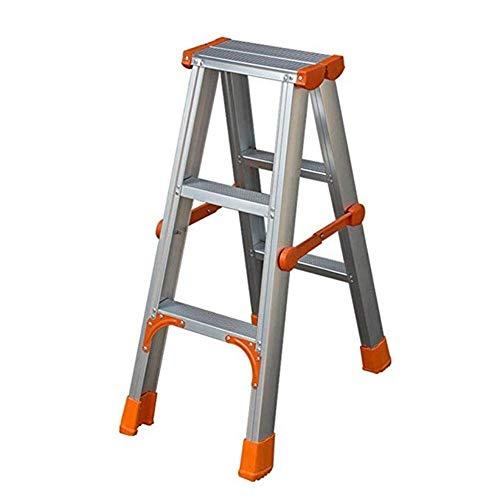 Living Decoration Sillas plegables Taburete de escalera Escalera de mano Escalera de aluminio ligera Escalera de extensión Escalera de ingeniería multiusos Escalera pequeña plegable (tamaño: 3 esca