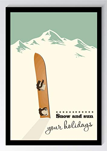 Snowboard Vintage Holiday Kunstdruck Poster -ungerahmt- Bild DIN A4 A3 K0841 Größe A3