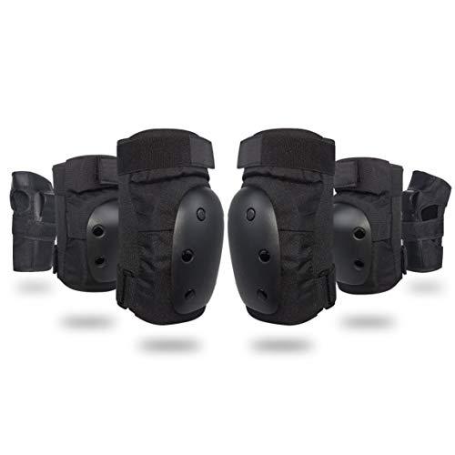 fgdjfhsdfgsdfh Erwachsene Knie-Ellbogen-Handgelenkstützen Pads Set Verstellbare Skate-Roller-Kniestützen Stützen Sie die Ellbogenschützer Handgelenkschützer Protector 6Pcs