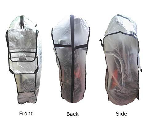 POSMA RC020 Golftaschen-Regenschutz, wasserdicht, PVC-Regenschutz, Golftasche, Reise-Abdeckung mit Kapuze für Golftrolle. UV-Schutz, Allwetterschutz