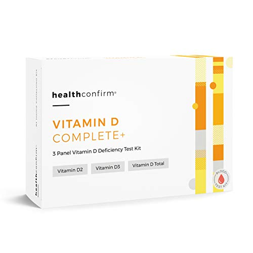 HealthConfirm - Vitamin D Complete - at-Home Test Kit - 3 Panel Vitamin D Deficiency Blood Collection Kit