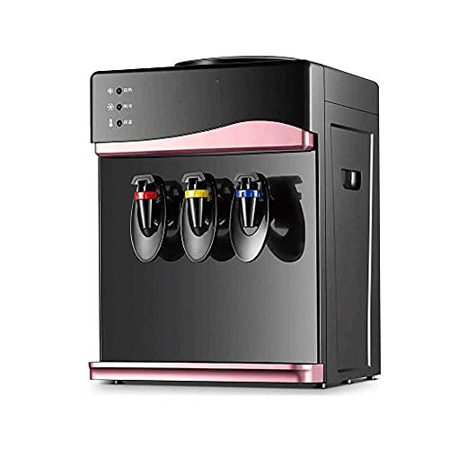 Dispensador de agua de escritorio pequeño con tres grifos Cálido Hielo caliente Dispensador de agua pequeño Ahorro de agua Calentador de agua Máquina de agua fría (Color : Rose Gold, Size : B)