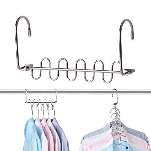 Bloberey Space Saving Hangers 6x2 Slots Metal Magic Cascading Hanger Closet Organizer Hanging Closet Wardrobe Closet System12 Pack