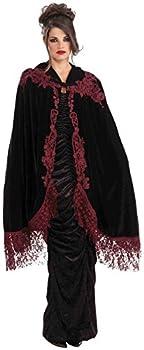 Forum Novelties Women s 45-Inch Velvet Lace Vampiress Cape Black One Size
