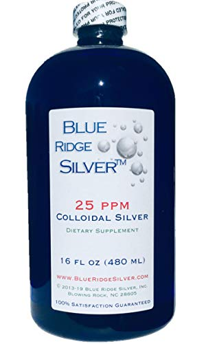 Blue Ridge Silver 25 ppm 16 oz Colloidal Silver Natural Immune Support Health Supplement