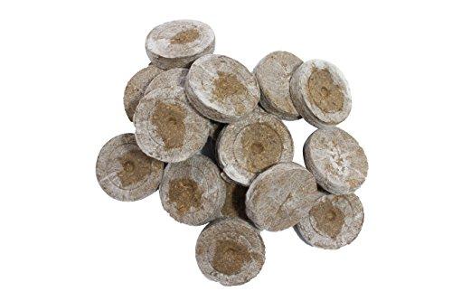 Weedness Jiffy Torfquelltöpfe 100 STK. Stecklinge Aufzucht - Kokoserde Quelltabletten Anzuchterde Aussaterde Torftablette Tomaten Stecklinge