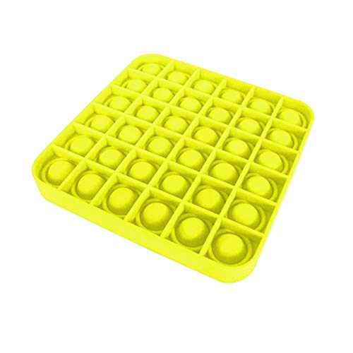 Dalang Stress Reliever Toys, for Kids Adults Teens Relieve Anxiety & Autism, Push Pop Bubble Sensory Toy Square (Yellow)