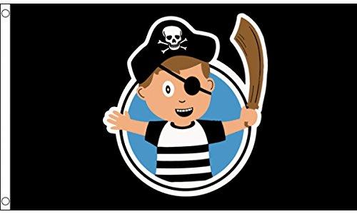 AZ FLAG Bandiera Pirata Bambino 150x90cm - Bandiera Ragazzo Pirati 90 x 150 cm