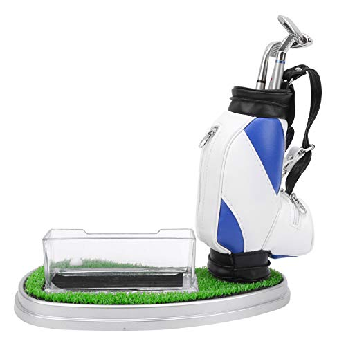 VGEBY Mini Golf Pens Holder Gift, Desktop Golf Bag Pen Holder Business Card Box Base Souvenir Set