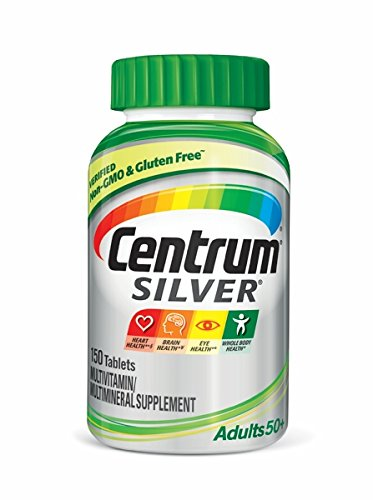 Centrum Silver Multivitamin for Adults 50 Plus, Multivitamin/Multimineral Supplement with Vitamin D3, B Vitamins, Calcium and Antioxidants - 150 Count