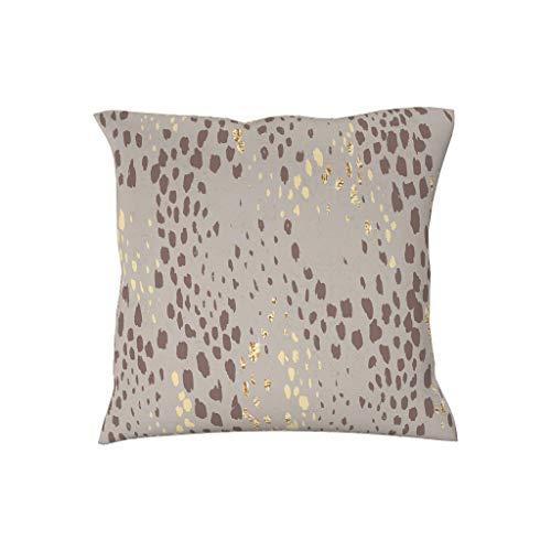 Dofeely luipaard patroon neksteun kussenslopen hoezen sierkussen hoezen voor bank bank bank polyester blend dierenhuid