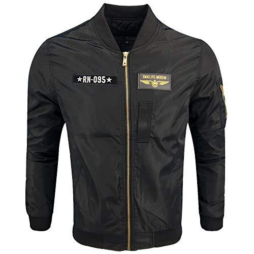 Review Dacawin Men's Winter Coat Sale Military Uniform Long Sleeve Zipper Sport Jacket Baseball Unif...