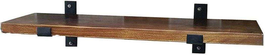 Loft R/étro Fer /Étag/ère De Cuisine Mur De Stockage du Disque Dur en Bois Biblioth/èque /Éponte Rack Multi-Taille en Option 120 * 20 * 3cm AWSD Tablette Murale