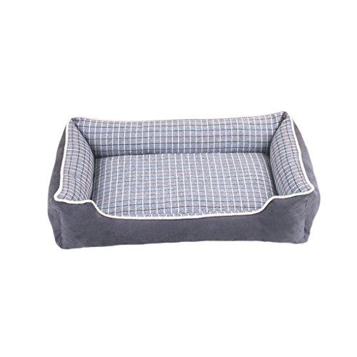 YAN FEI Pet Bed Plaid Fabric Kennel Weich und bequem wasserdicht rutschfest langlebig Kreative Haustierbetten (Color : Gray, Size : XL)