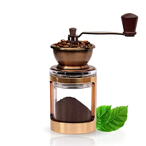 Planke & Neumann Gold X Handkaffeemühle | Manuelle Kaffeemühle | Coffee Mill | Keramikmahlwerk | stromfrei