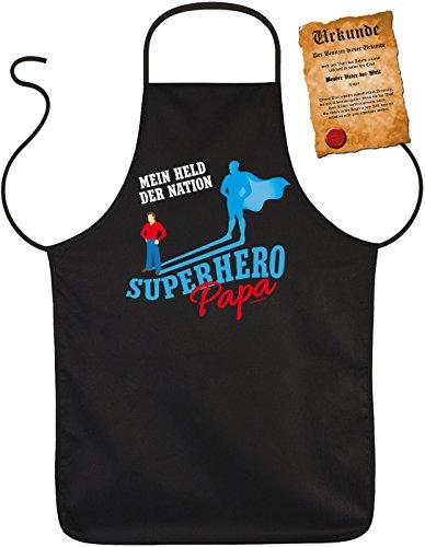 Superhero Papa Perfect geschenk voor vaderdag BBQ-schort Vaderdag Papa Dad Paps geschenk Grill schort verjaardag