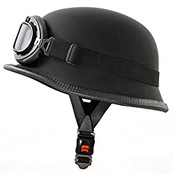 ATO WH1 Motorradhelm im Wehrmacht Style mit Fliegerbrille Größe M 57 bis 58cm