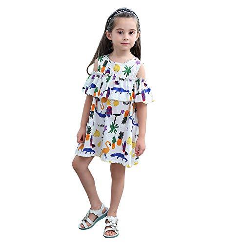 Oliviavan Robe Plissée sans Manches Camisole Print Chic Fleurie Imprimée Vêtements Bébé Filles Été Jupe Salopette à Fleurs