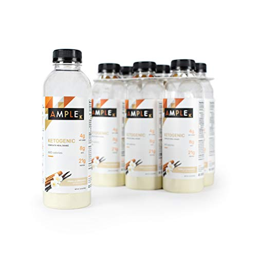 Ketogenic Meal Replacement Shake with only 3g Net Carbs in a Bottle, (Pack of 6) Meals, Large 600 Calories, Made with Natural Real Food Ingredients. Ketogenic Formula