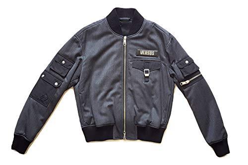 Versace Bomber - Chaqueta para Hombre, Estampado Versus BU50340BT10576, Color Gris Gris 50