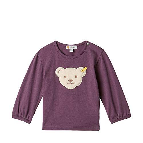 Steiff Baby - Mädchen Langarmshirt , Violett (HORTENSIA 7021) , 80 (Herstellergröße:80)