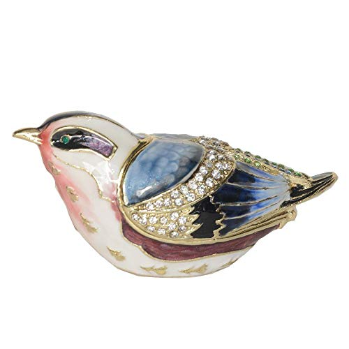 DDXW Caja de joyería para pájaros, mini regalo, caja de joyería de metal, para amantes de pájaros, creativos, para regalo de escritorio