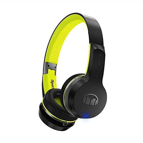 Monster iSport Freedom - Auriculares de Diadema con Bluetooth, Color Negro y Verde